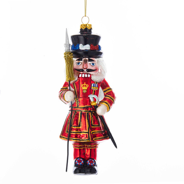 Beefeater Nutcracker Glass Ornament