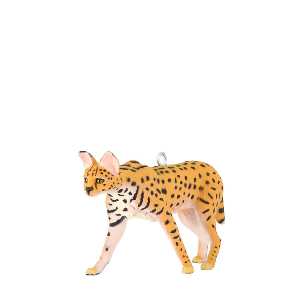 "Serval African Wild Cat Ornament, 2 x 3 3/4"", break resistant, SL11708"