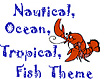 Ocean, Fish, Nautical Theme Icon