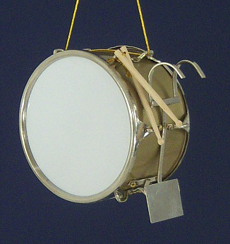 """GOLDEN BASS MARCHING DRUM INSTRUMENT ORNAMENT MARCHING BAND 3/"""" BY 2/"""""""