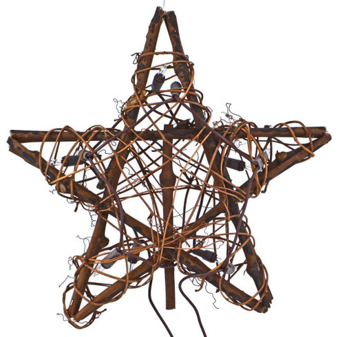Christmas Tree Topper - Raffia Angel Tree Topper ... |Grapevine Angel Tree Topper