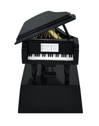 Mini Black Grand Piano On Stand Gift Decor Or Small Trophy