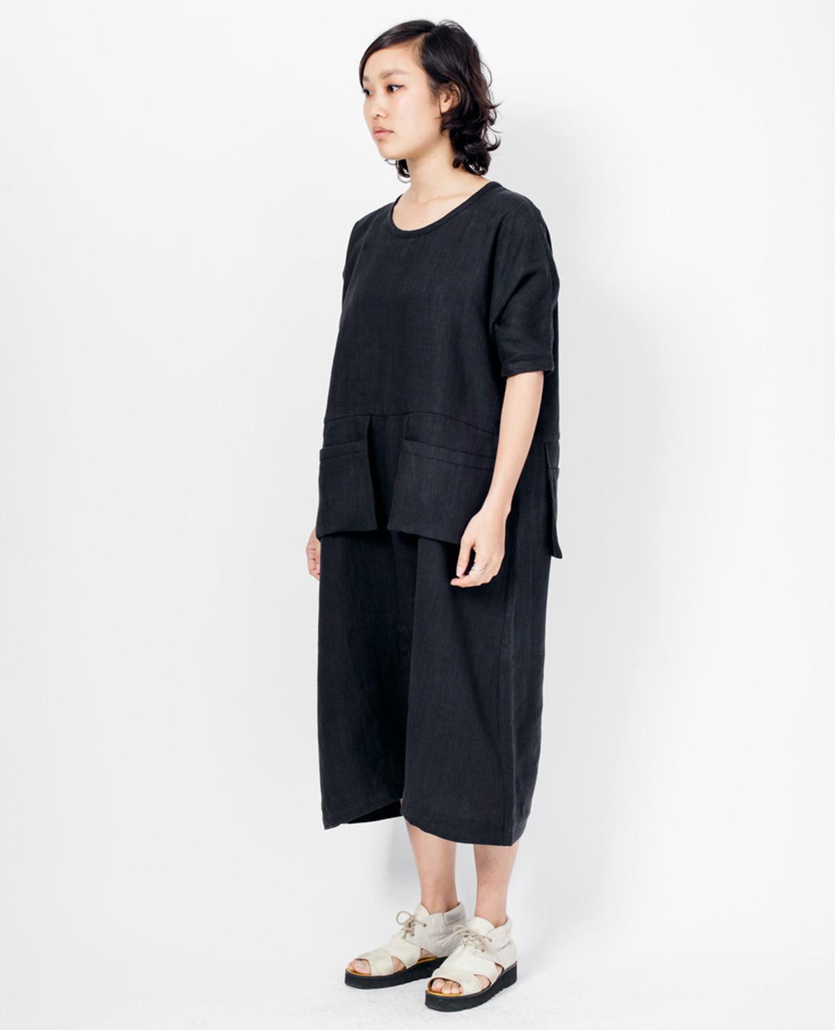 Grock Jumpsuit - Black Linen