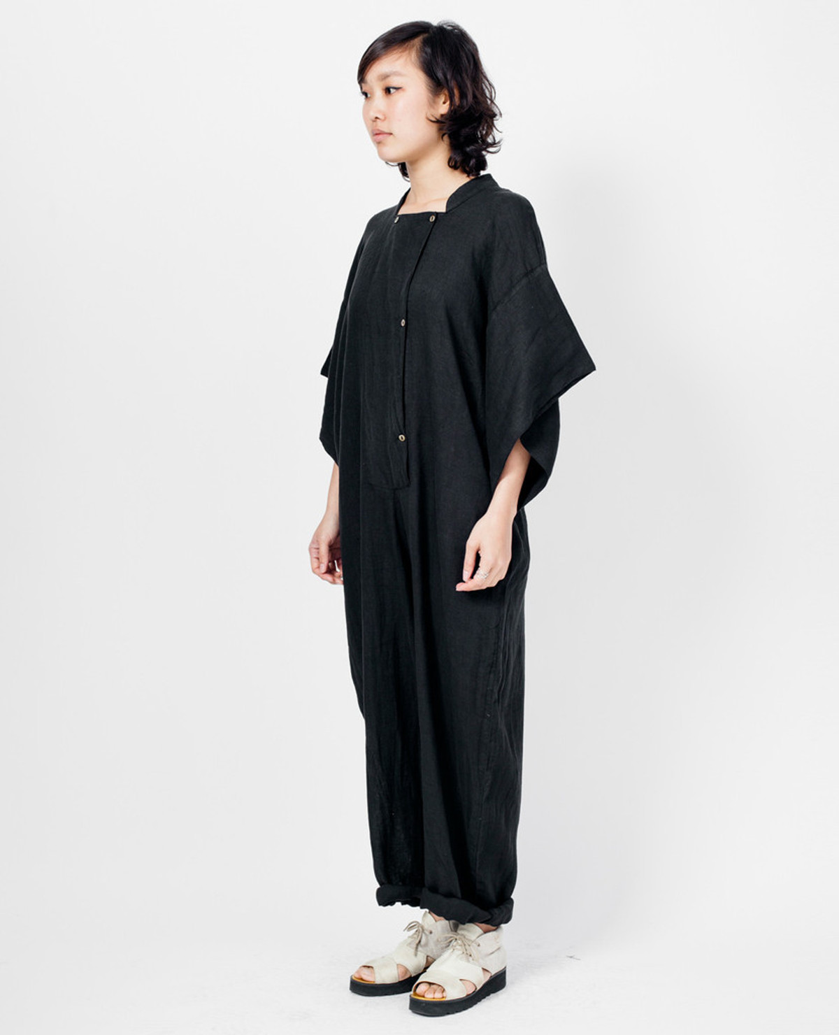 Black Crane Jumpsuit - Black