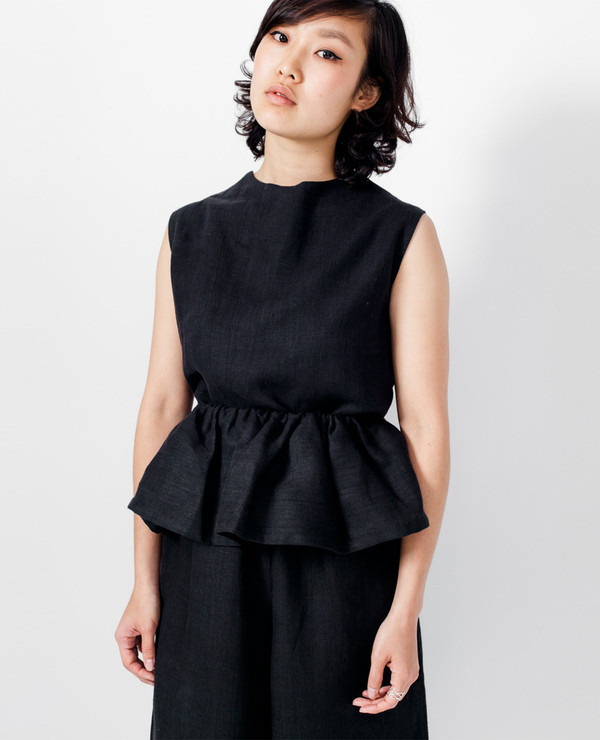 Theiss Top - Black Linen