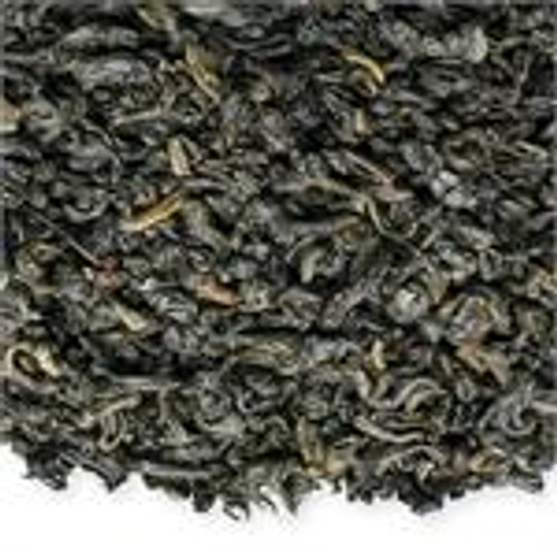 "Tightly rolled ""pellet"" shaped green tea from China with a strong deep flavor."