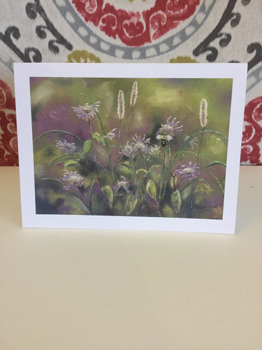 Bee on Monarda Notecard
