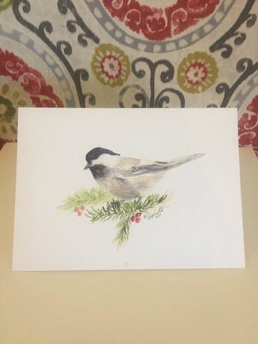 """Holiday Chickadee"" Greeting Card"