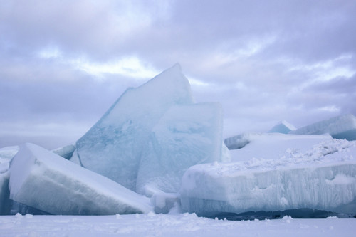 Blocks of Ice (Straits of Mackinac)