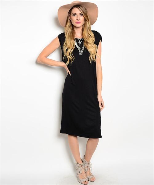 BLACK MUSCLE DRESS