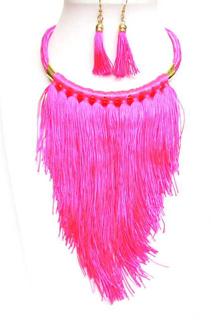 FRINGE THREAD Neon Pink