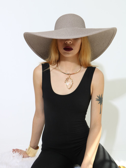 FLOPPY HAT Taupe