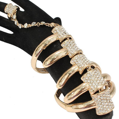 CRYSTAL HAND CHAIN Gold