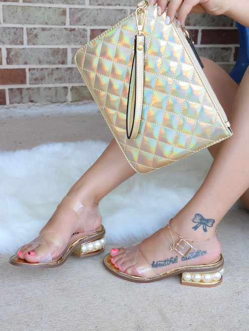 ANGIE Pearl Sandals