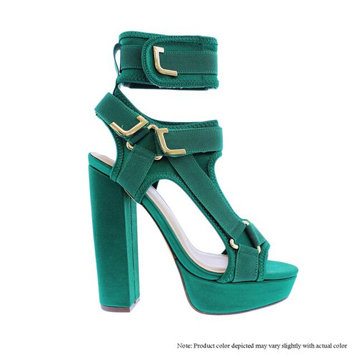GLAMMY Green Satin