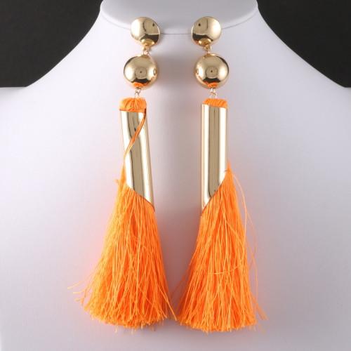 TASSEL EARRING Orange