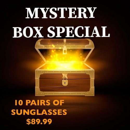 MYSTERY SUNGLASSES BOX 10 PAIRS-FINAL SALE