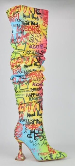 Graffiti Boots Multi