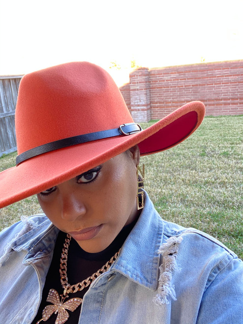 Rust Red Fedora Hat W