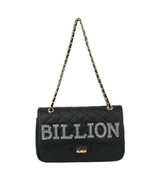 Quilted Billion Purse Black