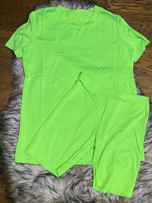 2 Pcs Love Me Set Neon Lime