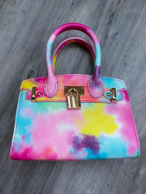 Watercolor Love Padlock Bag