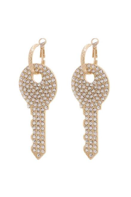 Key Hoop Earrings