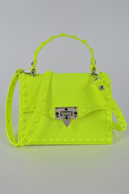Kelly Small Jelly Purse Neon Yellow