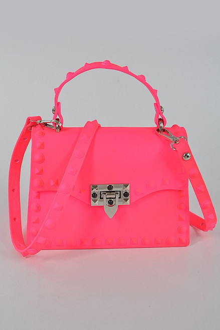Kelly Small Jelly Purse Neon Pink