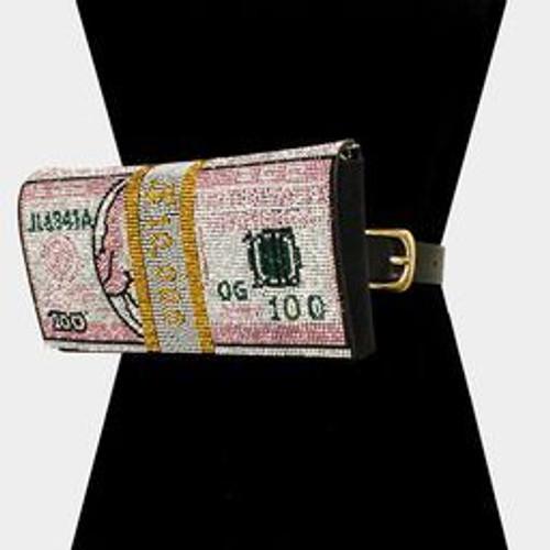 Money Bling Fanny Pink