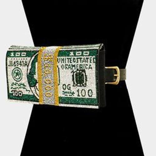 Money Bling Fanny Green