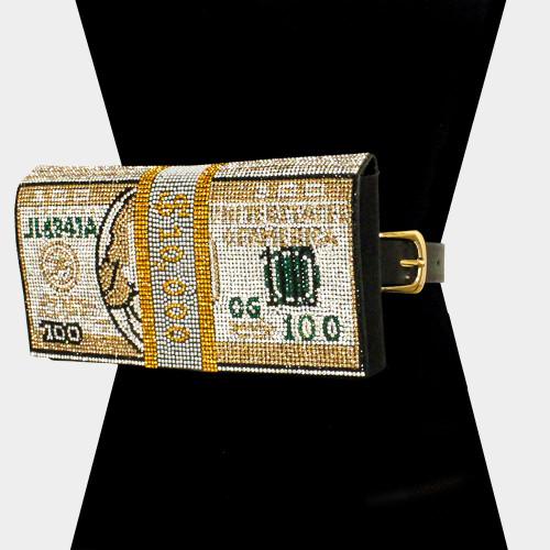Money Bling Fanny Gold