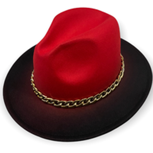 Ombre Fedora Red