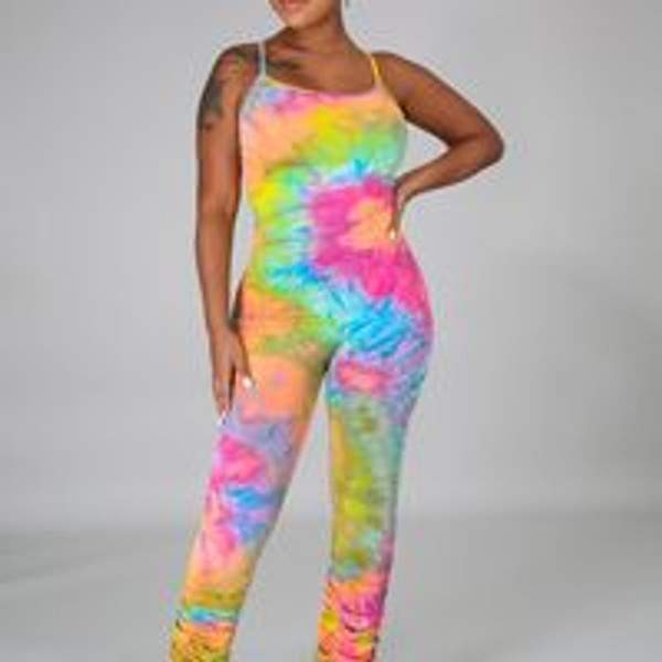 Flex Jumpsuit Rainbow Tie Dye