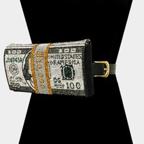 Money Bling Fanny Grey