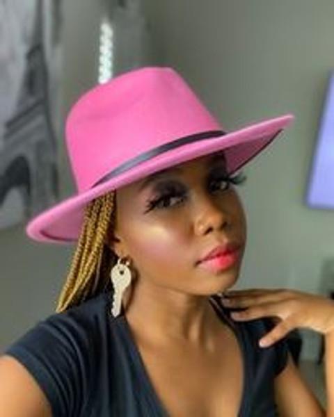 Lt Pink Fedora