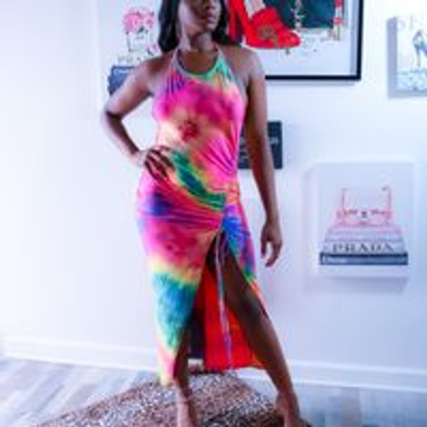 Watercolor Dress Multi