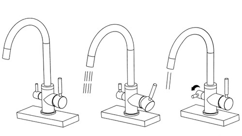 Waterlux Wl 302 Slim Elegant 3 Way Kitchen Faucet For Ro System