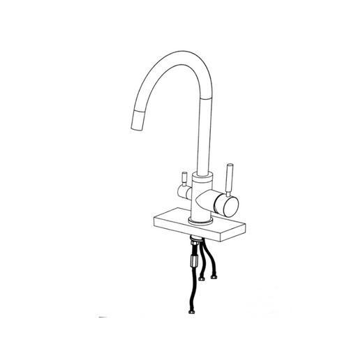 Waterlux Wl 302 Slim Elegant 3 Way Kitchen Faucet For Ro System