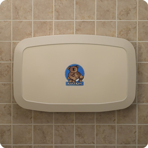 KB200-00 Koala Kare Horizontal, Wall-Mounted Baby Changing Station, Cream Color