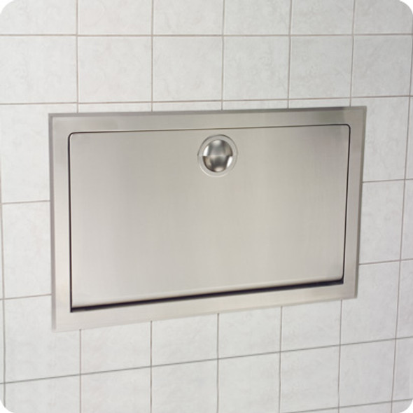 KB110-SSRE Koala Kare Horizontal,  Recess Mounted Baby Changing Station, Stainless Steel
