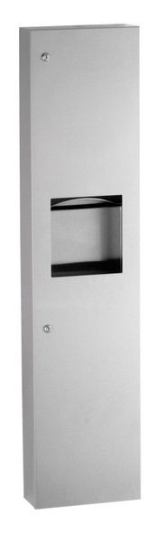 Bobrick B-380349 TrimLineSeries™ Surface-Mounted Paper Towel Dispenser/Waste Receptacle