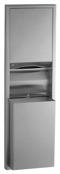 Bobrick B-3942 ClassicSeries® Semi-Recessed Convertible Paper Towel Dispenser/Waste Receptacle