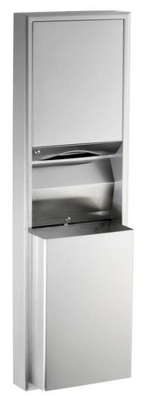 Bobrick B-3949 ClassicSeries® Surface-Mounted Convertible Paper Towel Dispenser/Waste Receptacle