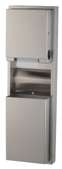 Bobrick B-39619 ClassicSeries® Surfaced-Mounting Convertible Paper Towel Dispenser/Waste Receptacle