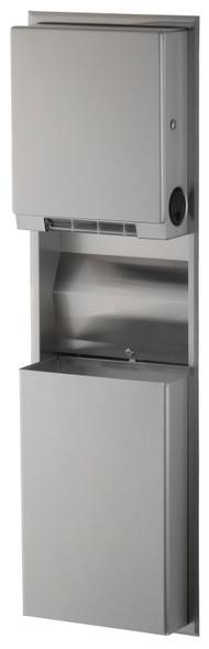 Bobrick B-3961 ClassicSeries® Recessed Convertible Paper Towel Dispenser/Waste Receptacle