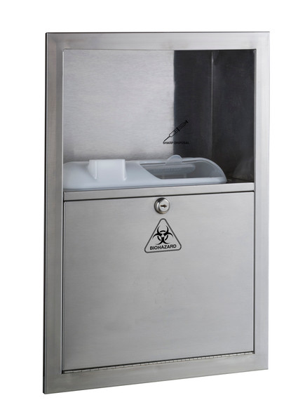 Bobrick B-35016 Recessed Sharp Disposal