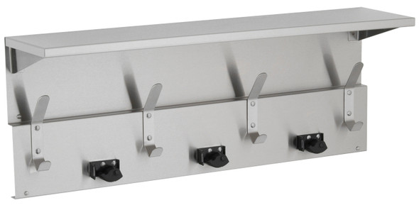 Bobrick B-239 x 34 Shelf with Mop and Broom Holders and Hooks
