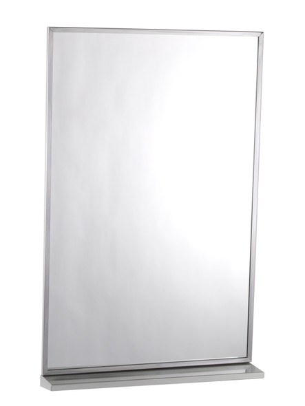 Bobrick B-166 2436 Series Channel-Framed Mirror/Shelf Combination