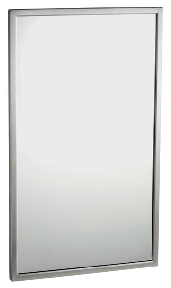 Bobrick B-2908 2436 Tempered Glass Welded-Frame Mirror